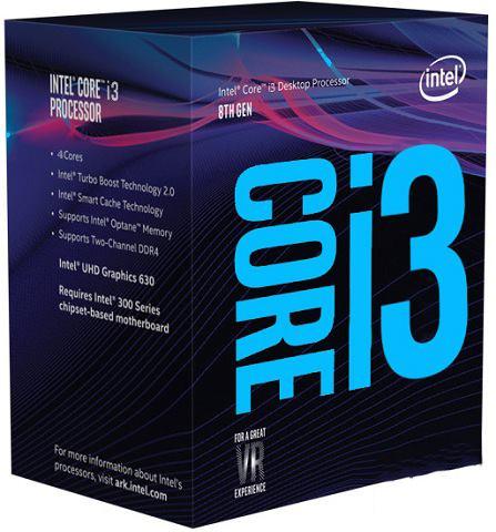 CPU Intel Core i3 8100 3.6 Ghz Cache 6MB Socket 1151v2