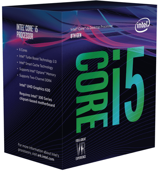 CPU Intel Core i5 8600K 3.6 Ghz Cache 9MB Socket 1151v2