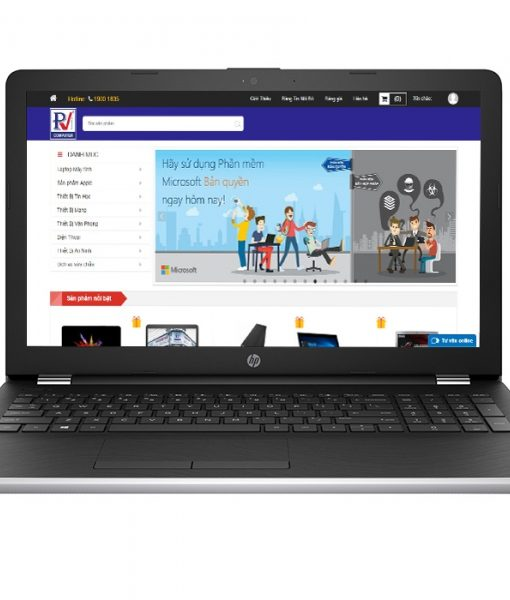 Laptop HP 15-bs557TU Core i3-7100U/4GB/1TB(Bạc)