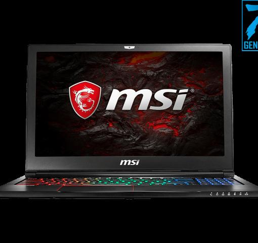 """Laptop MSI GS63 7RE-038XVN i7-7700HQ/15.6"""" FHD IPS/2x8GB /128GB SSD M.2+1TB 7200 rpm/GTX 1050TI 4GB (Đen)"""